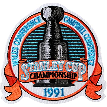 Amazon 1991 NHL Stanley Cup Final Championship Jersey Patch