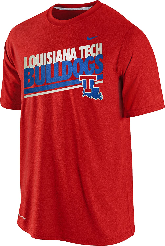 Nike Louisiana Tech Bulldogs Mens Double Stripe Legend Dri-FIT T-Shirt