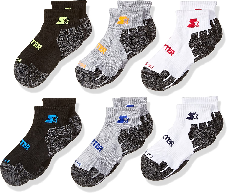 Exclusive, Starter Boys 6-Pack Quarter-Length Athletic Socks