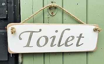 Cartello Da Appendere In Bagno : Wc sign loo cartello in legno massiccio casa bagno decor sign plaque
