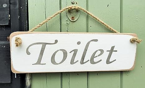 Cartello Da Appendere In Bagno : Wc sign loo cartello in legno massiccio casa bagno decor sign