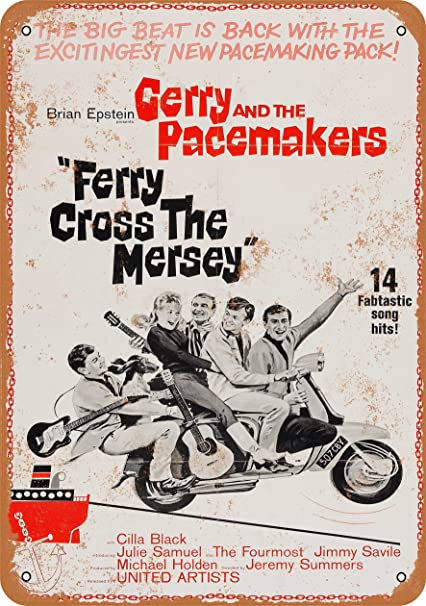 Amazon.com: 7 x 10 Metal Sign – 1965 Ferry Cross The Mersey ...