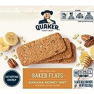 Quaker Baked Flats, Banana Honey Nut,  5-3 Bar Packs (Pack of 8)