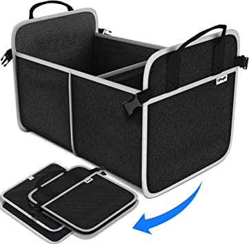 Durable Collapsible Heavy Duty Cargo Storage with Rzting Car Trunk Organizer