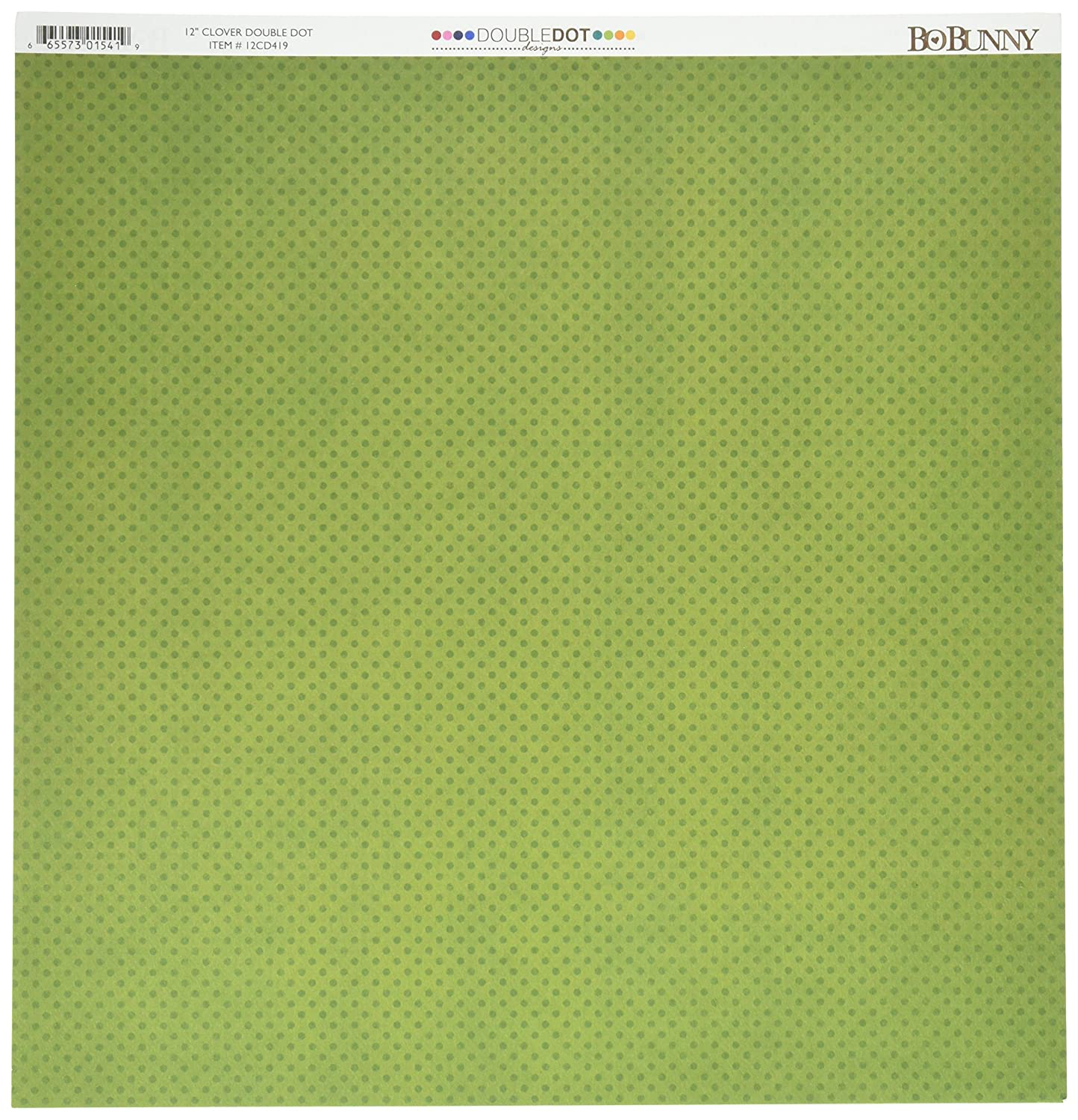 Double Dot Double-Sided Textured Design Cardstock 12X12-Clover- 25 Pack by Bo Bunny B0019LSTJI