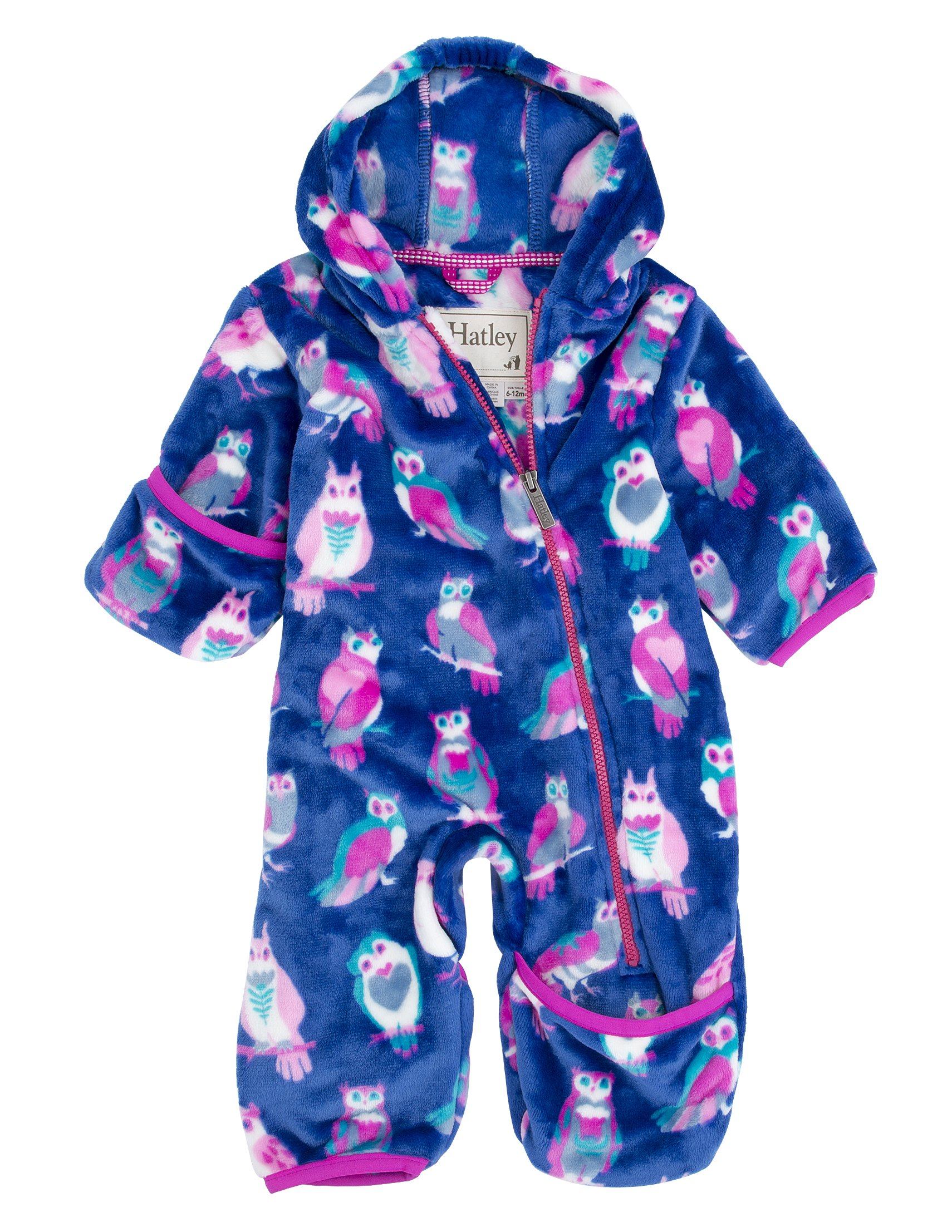 Hatley Babies' Fuzzy Fleece Bundler, Happy Owls, 6-12M