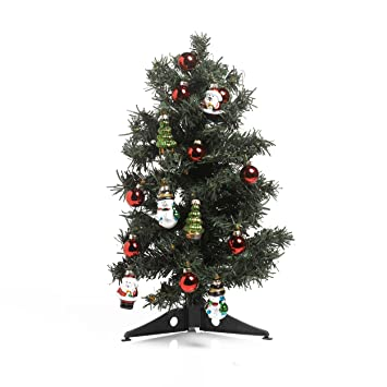 Image Unavailable. Image not available for. Color: Kaemingk Mini Decorated  Christmas Tree ... - Amazon.com: Kaemingk Mini Decorated Christmas Tree With Ornaments