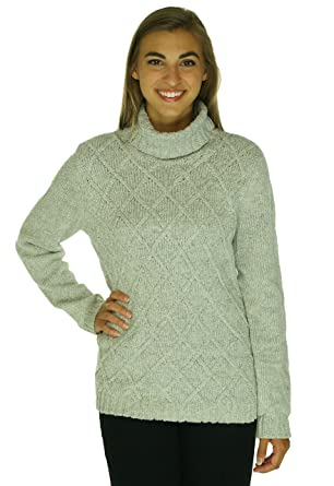 Anne Klein Womens Cable Knit Turtleneck Sweater At Amazon Womens