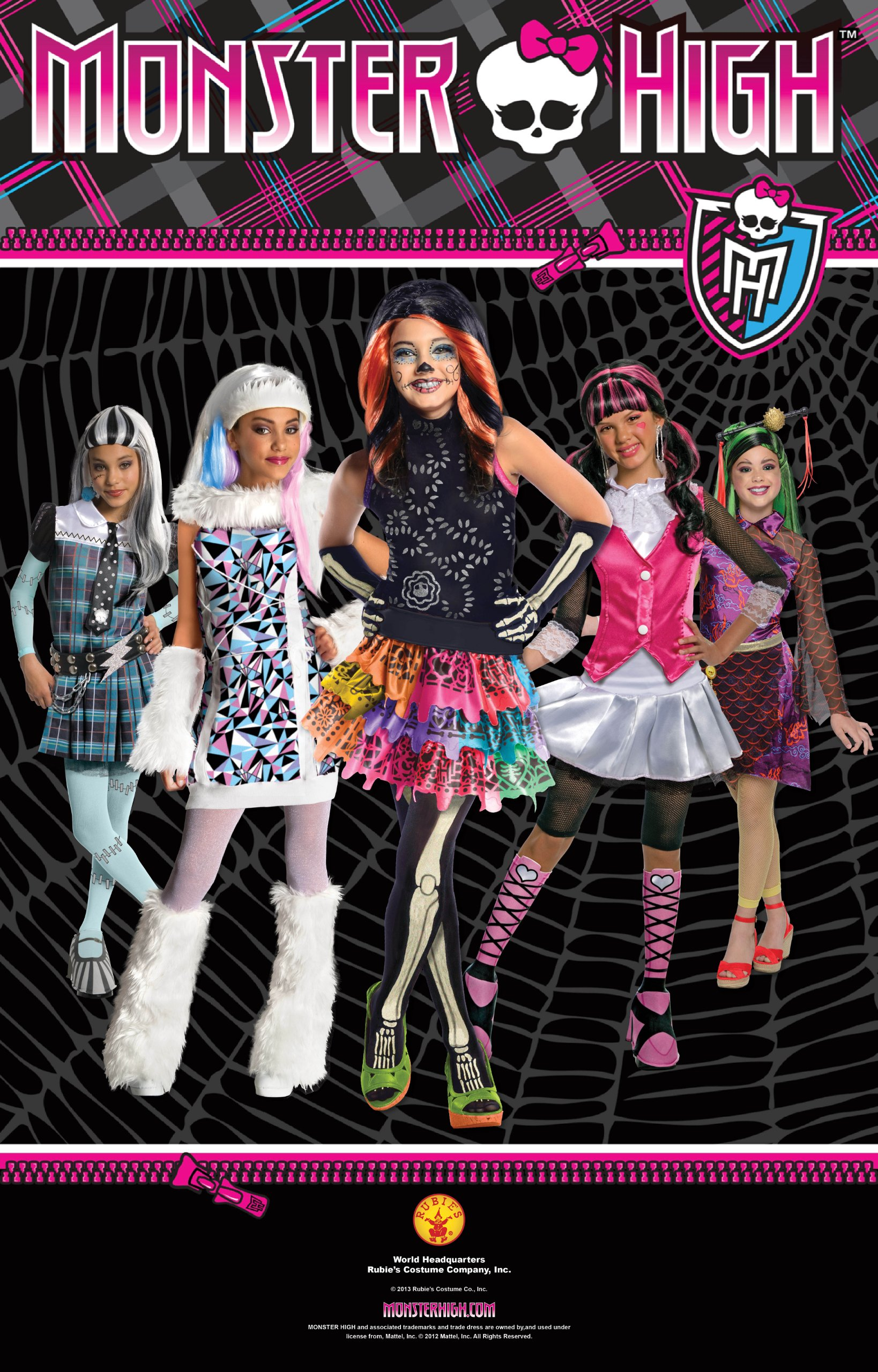Monster High Child's Draculaura Costume Wig by Rubie's