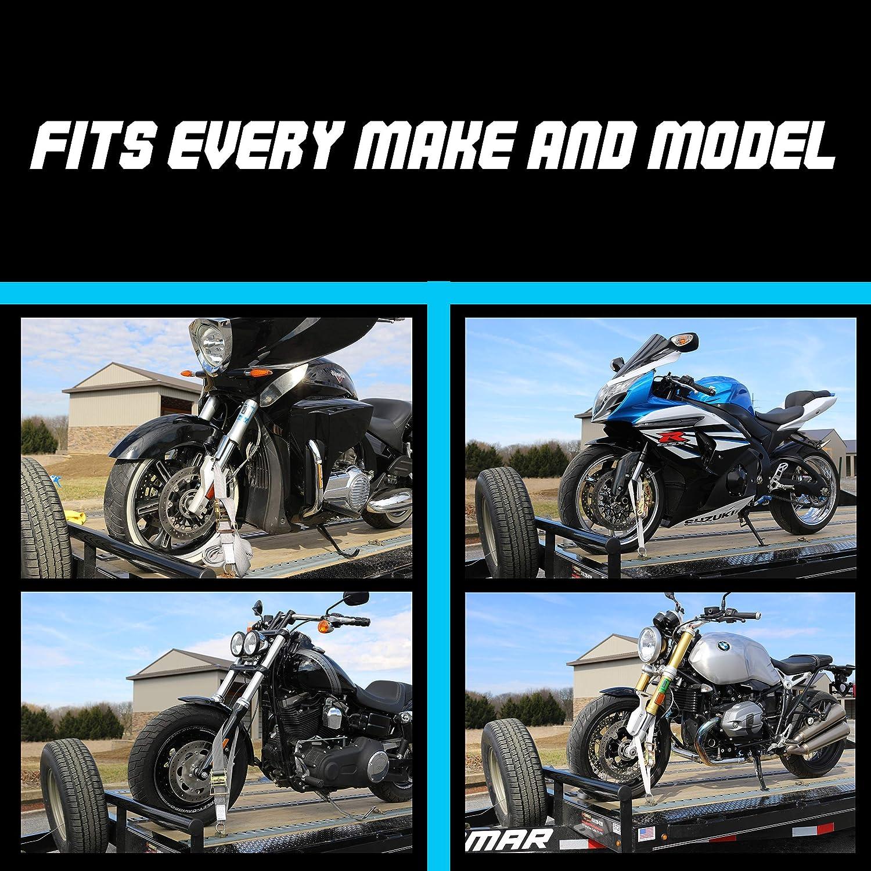 10.000 lb Webbing Break Strength 2 x 10 Super Heavy Duty Endless Tie Downs with Ratchet Strap Tank Straps Motorcycle Tie Down Straps 2pk Blue