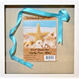 """12x12"""" White Display Shadow Box Frame with Linen Background - Ready To Hang Shadowbox Picture Frame - Easy to Use - Box Display, Baby and Sports Memorabilia, Uniforms, Military Medals, Pins, Wedding."""