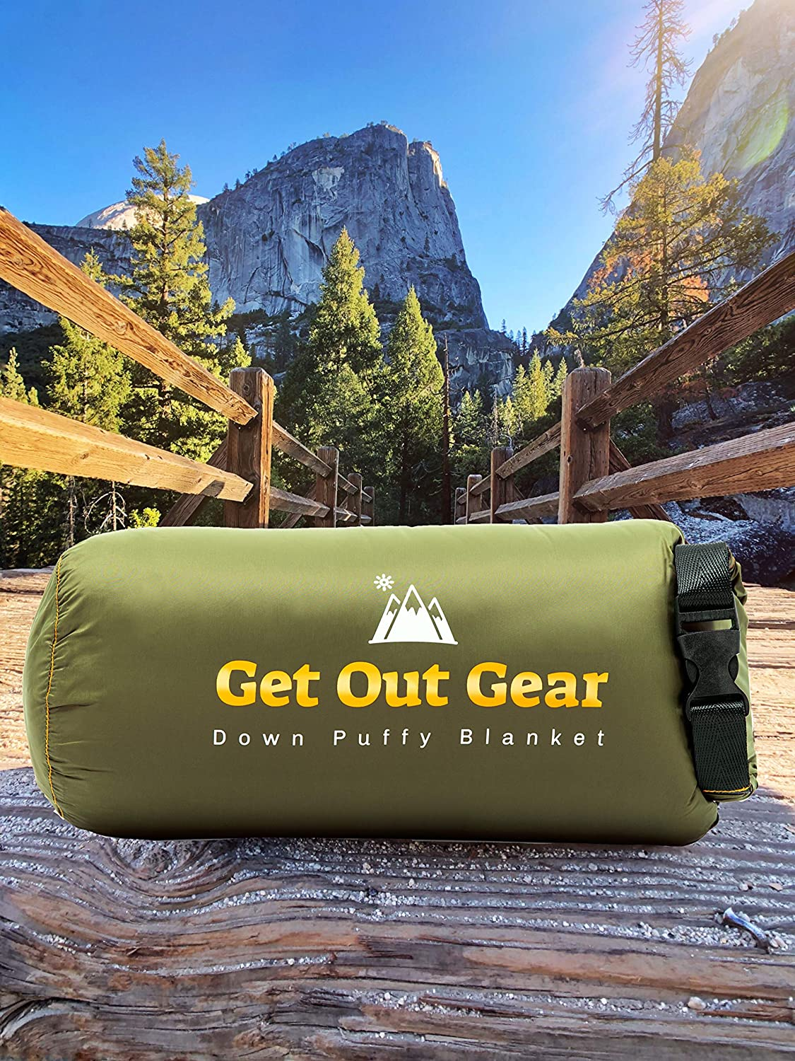 Get Out Gear Down Camping Blanket – Puffy, Packable, Lightweight and Warm Ideal for Outdoors, Travel, Stadium, Festivals, Beach, Hammock 650 Fill Power Water-Resistant Backpacking Quilt