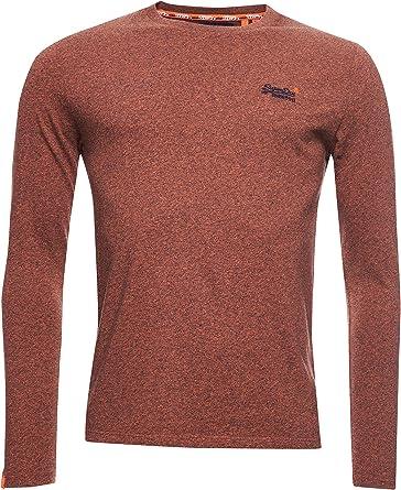Superdry Hombre Camiseta Bordada de algodón orgánico de la colección Orange Labe Arenilla Naranja Desierto L: Amazon.es: Ropa y accesorios