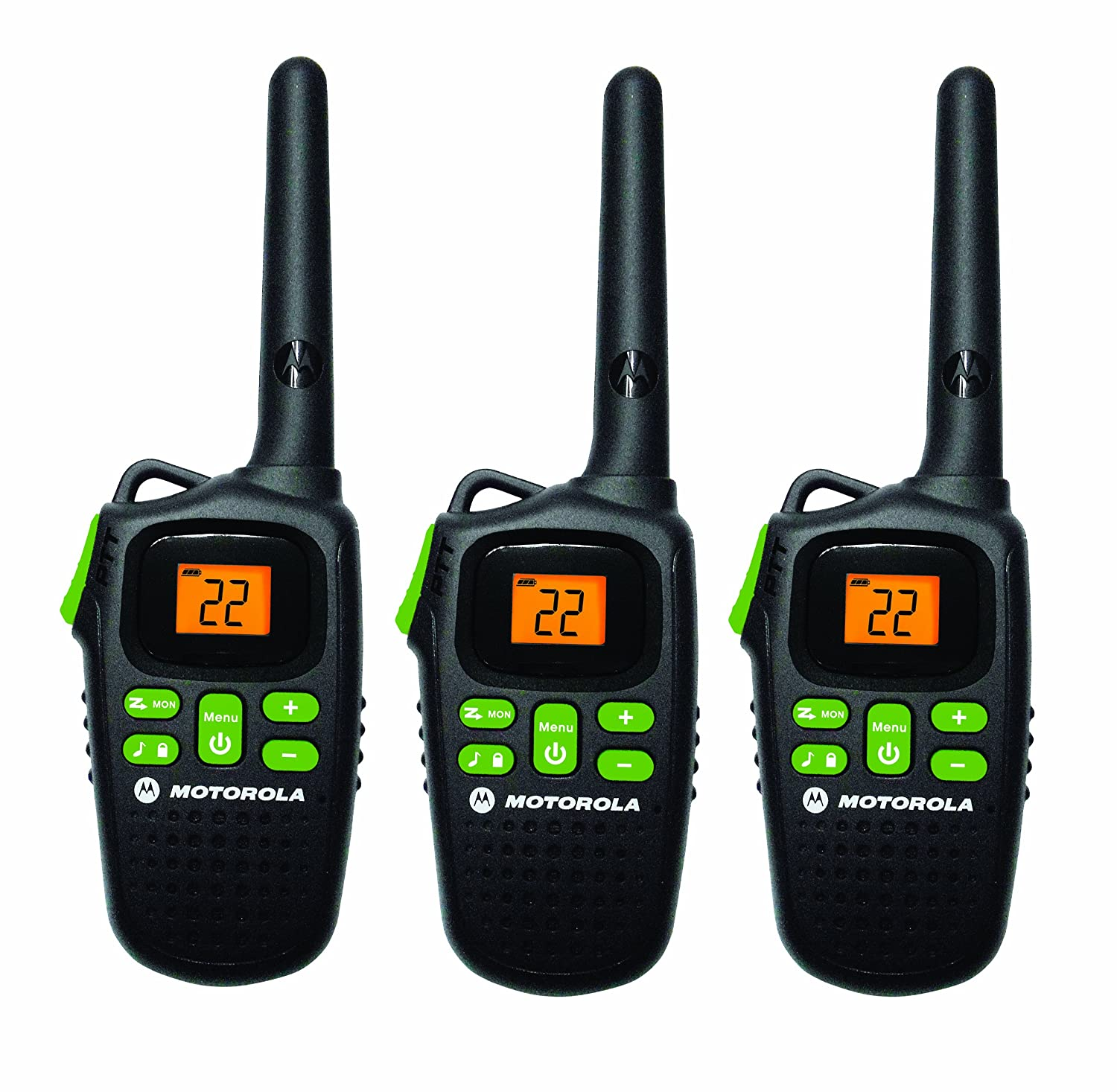 Amazon.com: Motorola MD200TPR FRS Two-Way, 20 Mile Radio Triple Pack  (Black): Cell Phones & Accessories