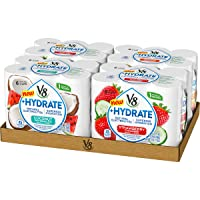 V8 +Hydrate Plant-Based Hydrating Beverage, Variety Pack, 8 oz. Can, 6 Count (Pack...