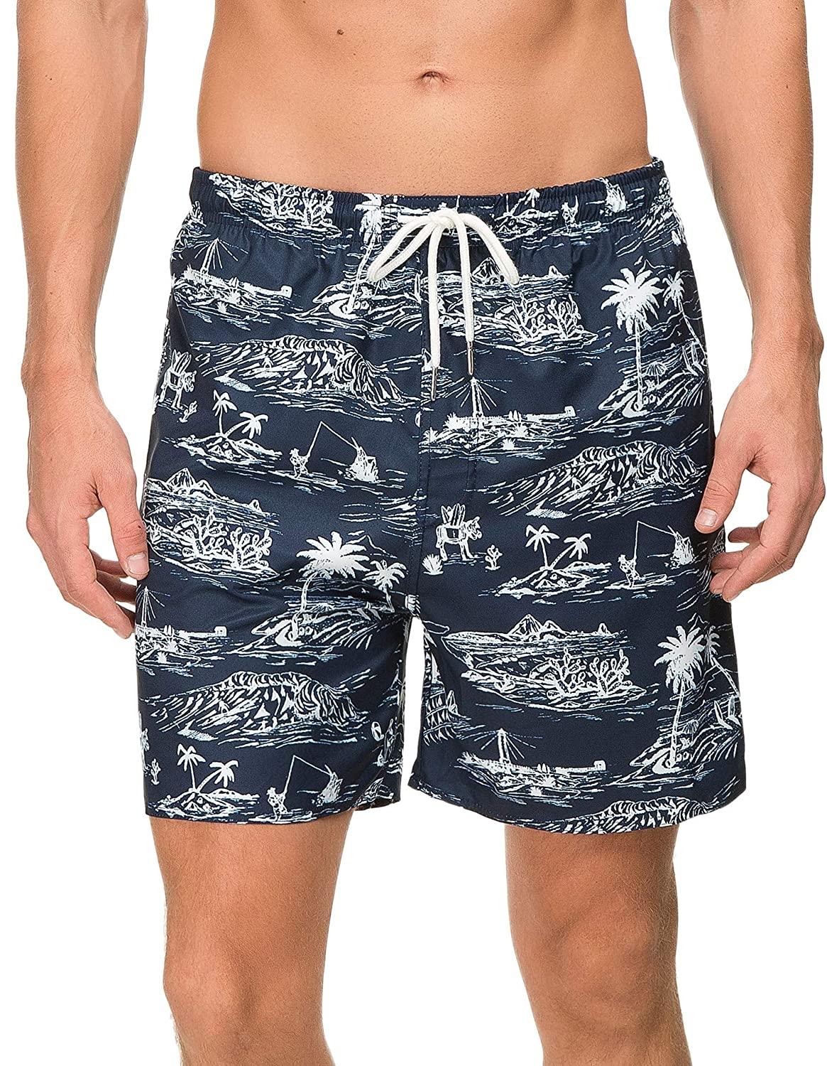 0a08497ee0 ... Janmid Mens Slim Fit Quick Dry Short Swim Trunks with Mesh Lining M11  ...