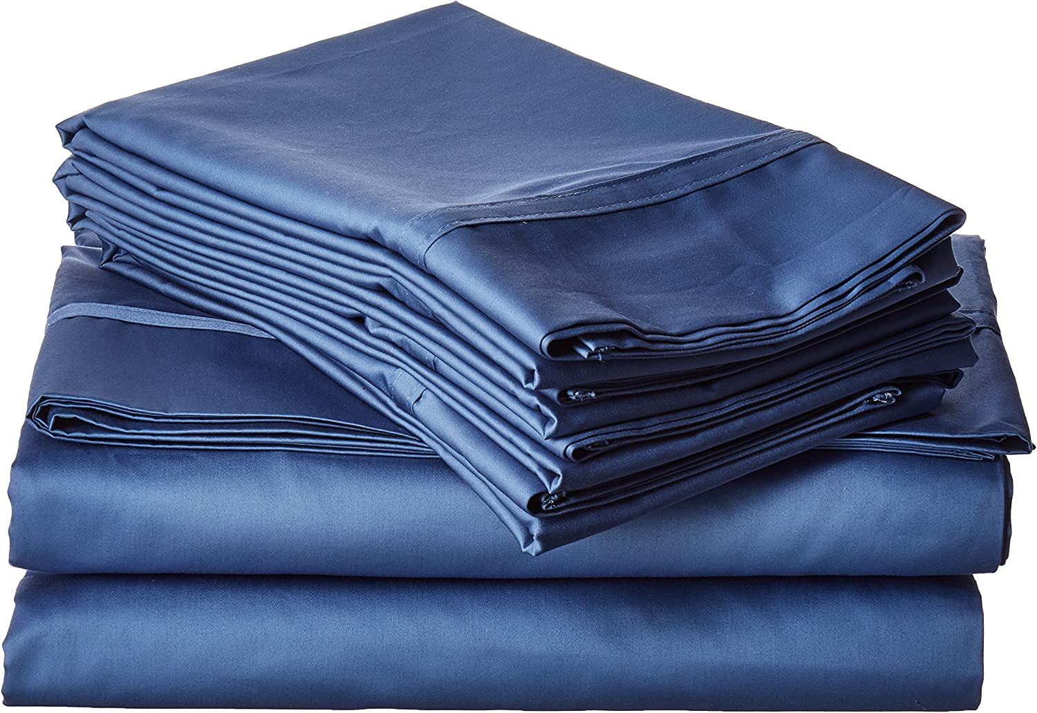 Tribeca Living 6 Piece 500 Thread Count Blue Bed Sheet