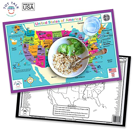 Buy USA Geography Activity Placemat Online at Low Prices in ...