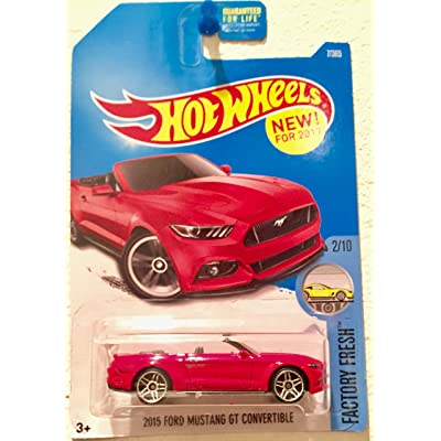 Hot Wheels 2020 Factory Fresh 2015 Ford Mustang GT Convertible 7/365, Red: Toys & Games