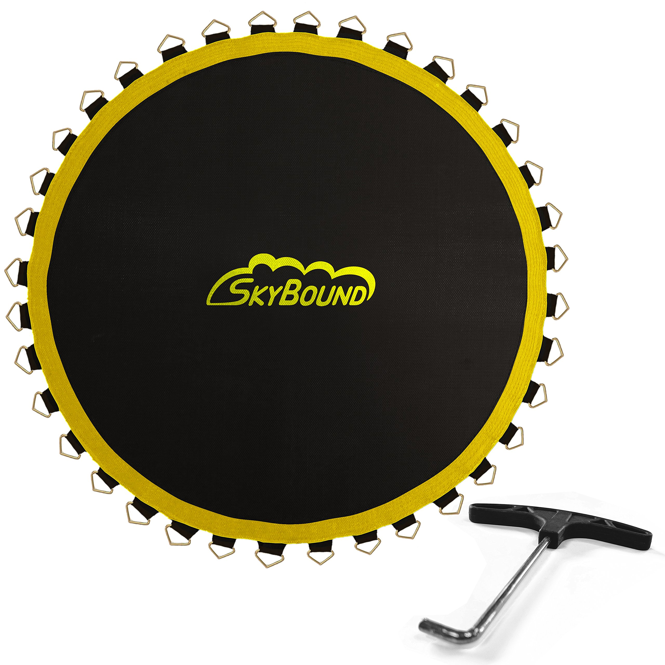 SkyBound 12 ft. 6 in. (150 in.) Sunguard Premium Round Trampoline Mat with 72 V-Rings, Fits Frames That are 14 ft., That use Springs That are 5.5''. (Fits Brands Bounce Pro, Sports Power)