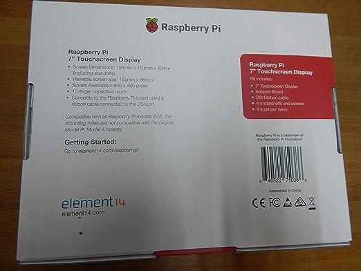 Raspberry 2473872 Pantalla táctil V2, 8MP, 7 pulgadas: Amazon.es ...