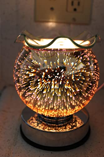 Navillus – 3D Fireworks Touch Lamp – Globe Shape, Beautiful design, oil warmer with dimmer in Multicolors color