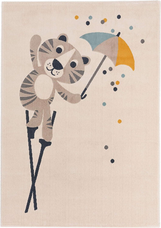 Zala Living Kinderteppich Spielteppich Bunny Marty Creme 120x170 cm