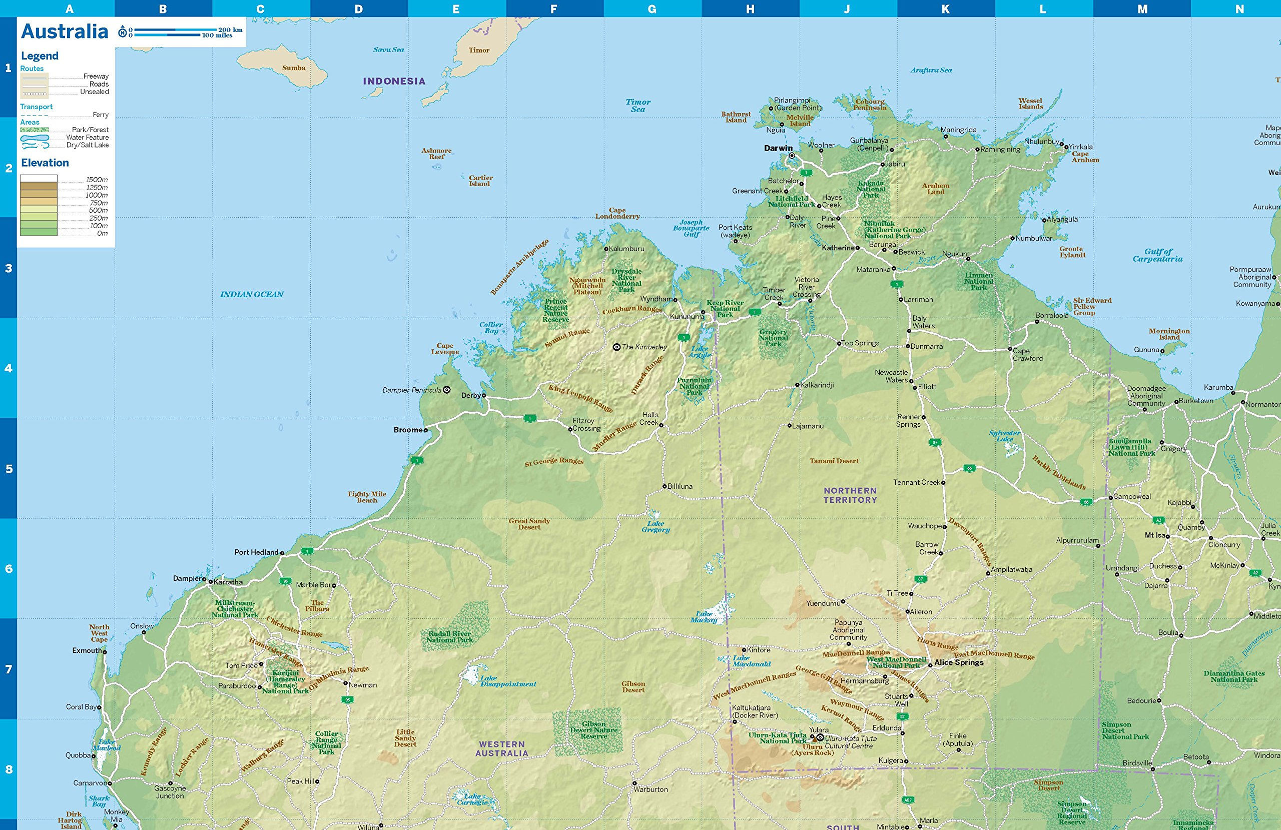 Australia Planning Map (Lonely Planet Planning Map): Amazon ...