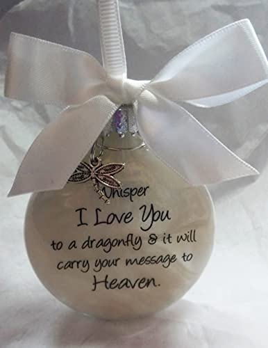 bereavement gift whisper to a dragonfly w charm in memory of loved one