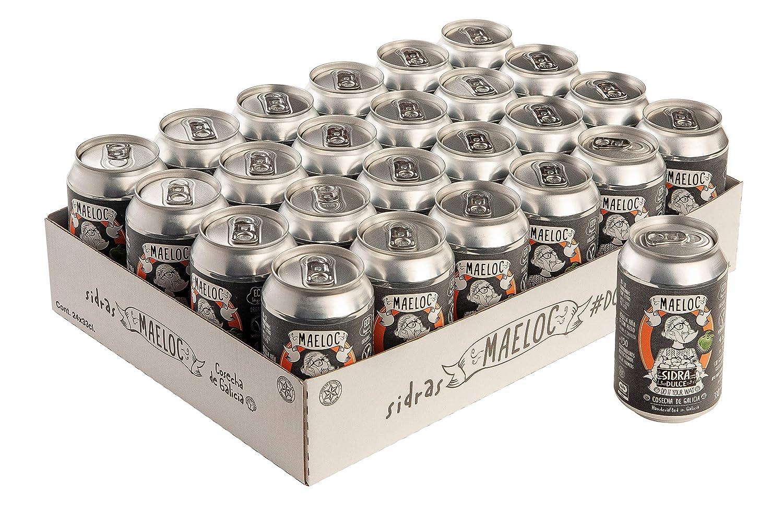 Maeloc Sidra Dulce Ecológica Lata - 24 latas x 330 ml: Amazon.es: Alimentación y bebidas