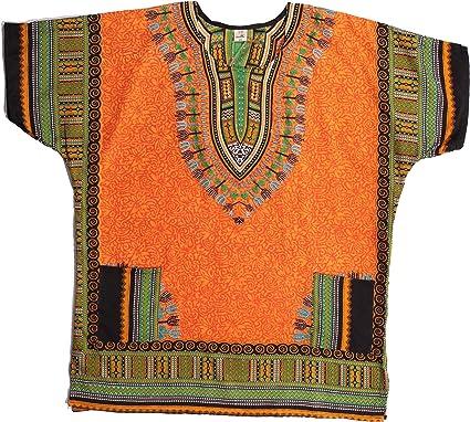 Riviera Sun Dashiki Camisa para Hombre con Bolsillos impresión Tribal Africana Boho Top - Multicolor - XXL/3XL: Amazon.es: Ropa y accesorios