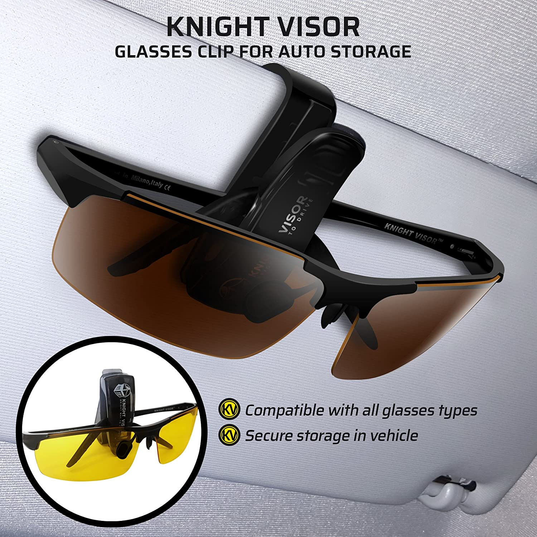 d01933456068 Amazon.com   BLUPOND KNIGHT VISOR Set of 2 - Driving Glasses Anti-Glare HD  Vision - Yellow Lens Night Driving Glasses Plus Copper Daytime Driving  Sunglasses ...