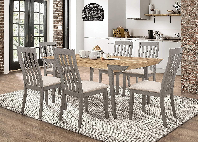Coaster Home Furnishings Nogales 5-Piece Rectangle Acacia and Coastal Grey Dining Set