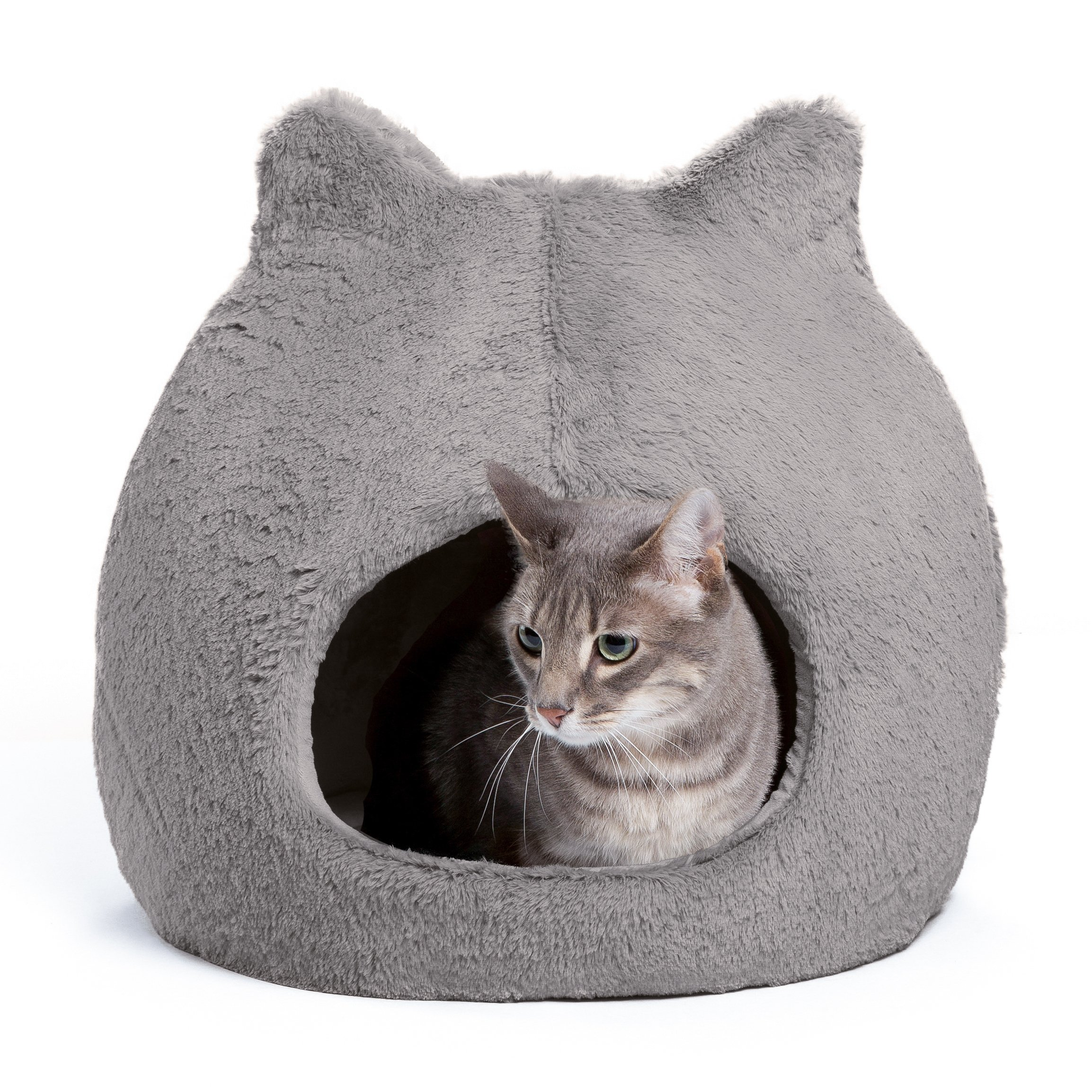 Best Friends by Sheri Meow Hut in Fur - 360 Coverage, Machine Washable Cat/Dog Bed, 19''x19''x20'' by Best Friends by Sheri
