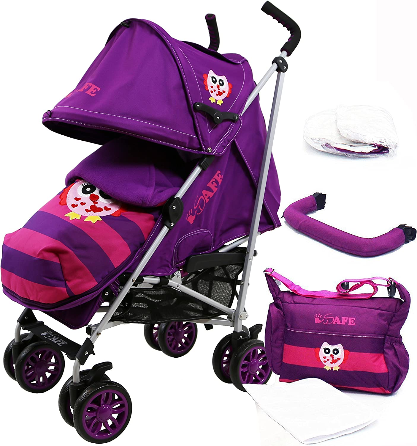 Limited Edition i-Safe Baby Stroller Owl /& Button Complete
