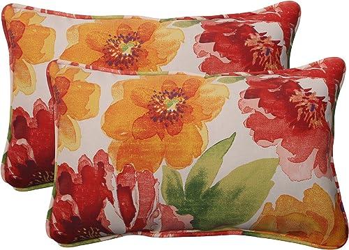Pillow Perfect Indoor/Outdoor Primro Corded Rectangular Throw Pillow