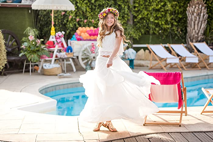 Amazon Com Boho Chic Flower Girl Dress Junior Bridesmaid Dress