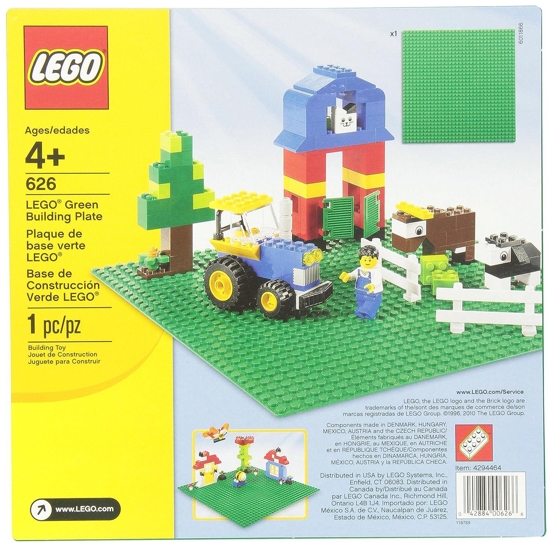 "Amazon LEGO 626 Green Building Plate 10"" x 10"