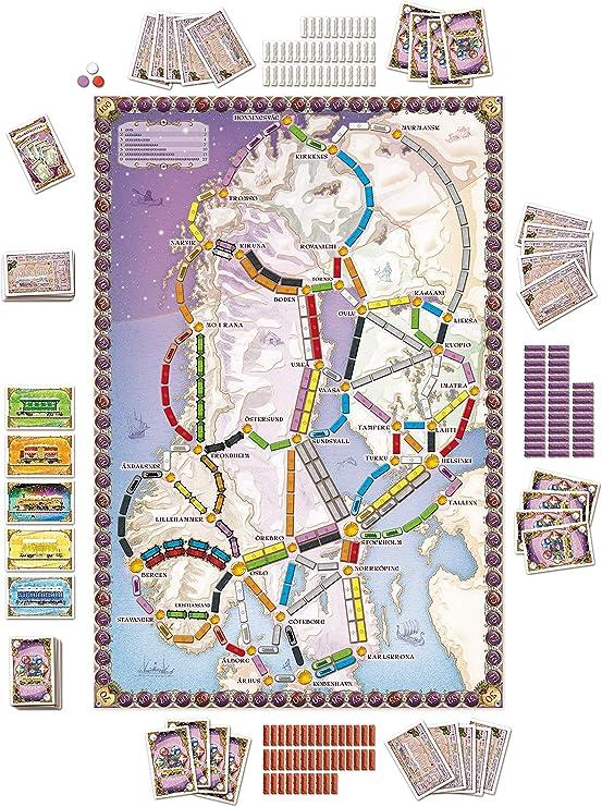 Days of Wonder Ticket To Ride Nordic - Juego de Mesa: Amazon.es: Juguetes y juegos