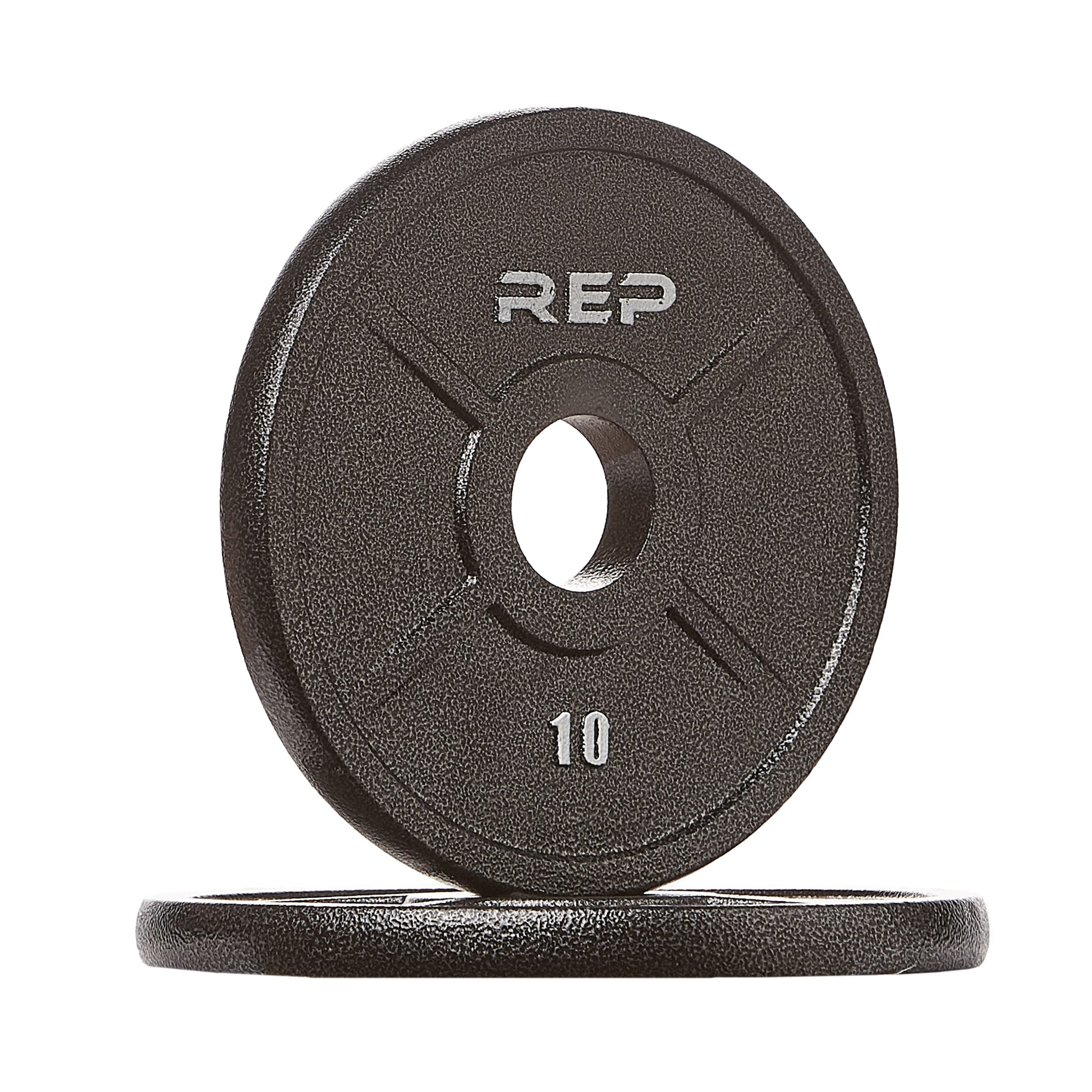 Rep Fitness Rep Black Equalizer Iron Olympic Plates, 10 lb Pair