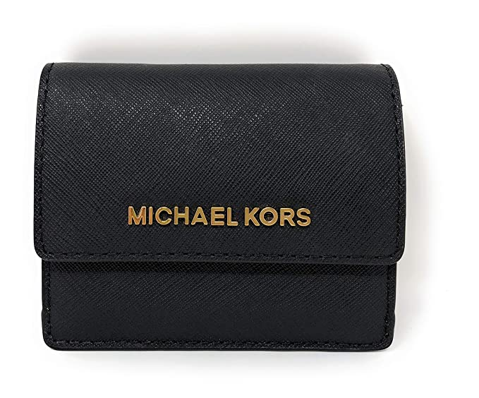 michael kors jet travel leather credit card case id key holder rh amazon com