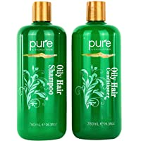 Oily Hair Shampoo & Conditioner Set for Oily Hair. Hair Strengthener & Itchy Scalp...