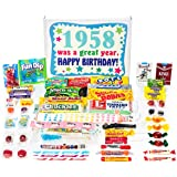 Woodstock Candy 60th Birthday Gift Box of Nostalgic Retro Candy from Childhood for a 60 Year Old Man or Woman Born in 1958