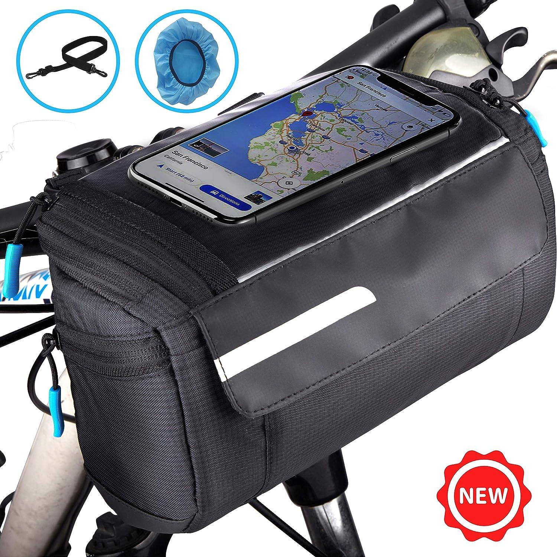 Bike Handlebar Bag Waterproof Cycling Storage Bag Bicycle For Road MTB Pouch OE