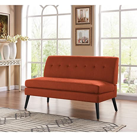 Amazon.com: Handy Living Kingston Mid Century Modern Orange Linen ...