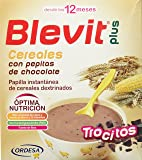 Blevit Plus Trocitos Cereales con Pepitas de Chocolate - Paquete de 2 x 300 gr - Total: 600 gr
