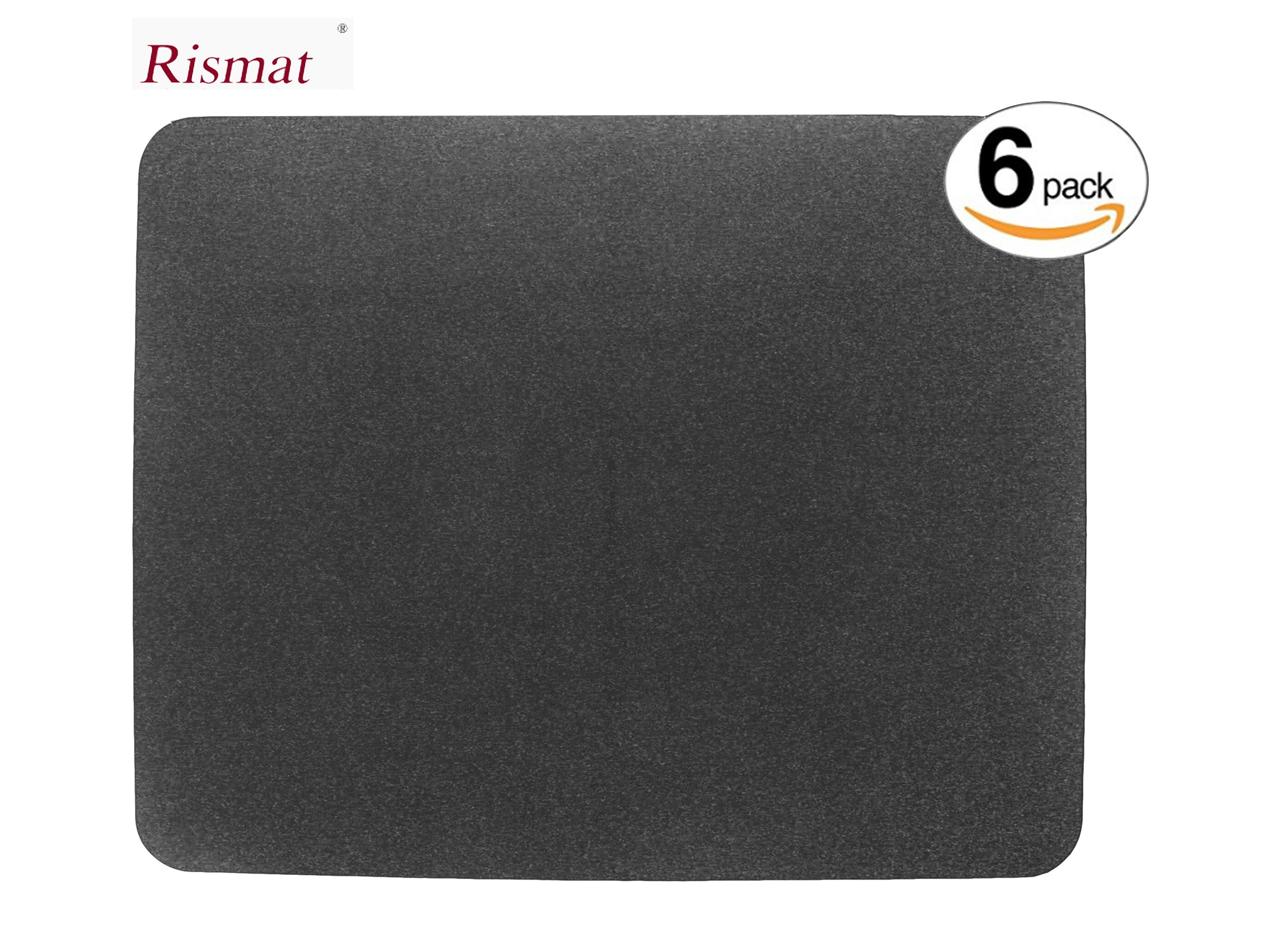 Urinal Mats (6-Pack) with Anti-Bacterial, Deodorization, Absorbency, Non-Slip, Grease-Proof Disposable Mats (Carbon Black)