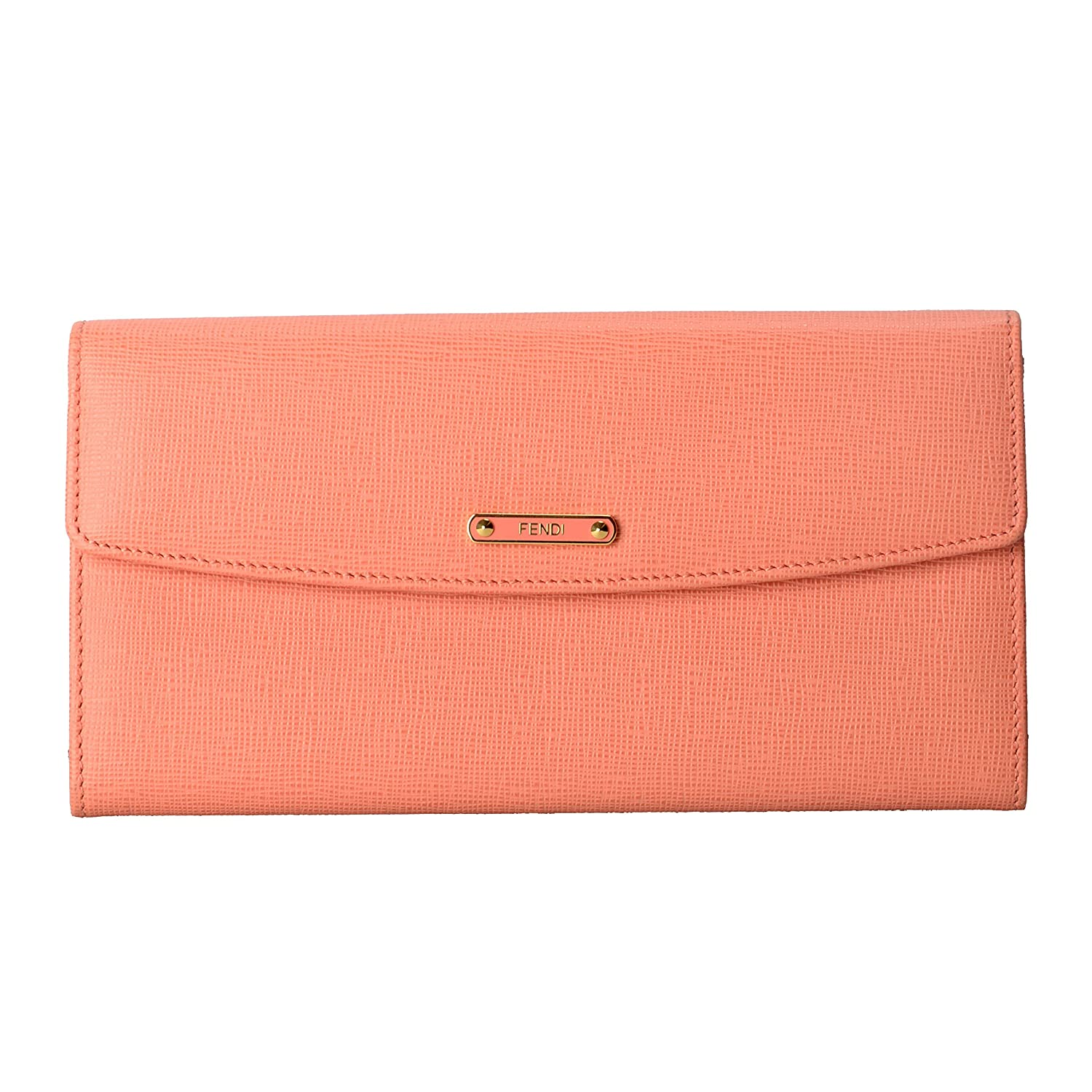 180684ef11 Fendi Women s Pink Saffiano Leather Continental Crayons Wallet at Amazon  Women s Clothing store