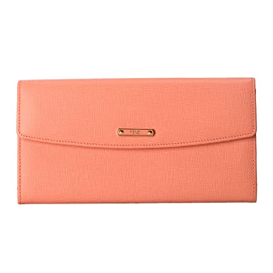 c51be20337d Image Unavailable. Image not available for. Color: Fendi Women's Pink  Saffiano Leather Continental Crayons Wallet