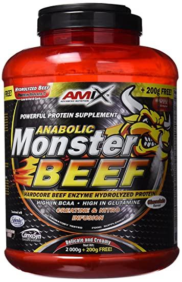 Amix Anabolic Monster BEEF 172 90 Percent Protein Chocolate Food Supplement by Amix